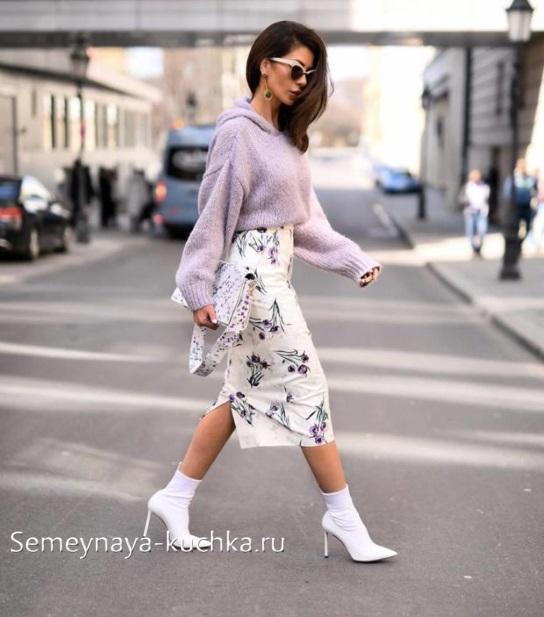 плотная юбка с чем носить осенью зимой