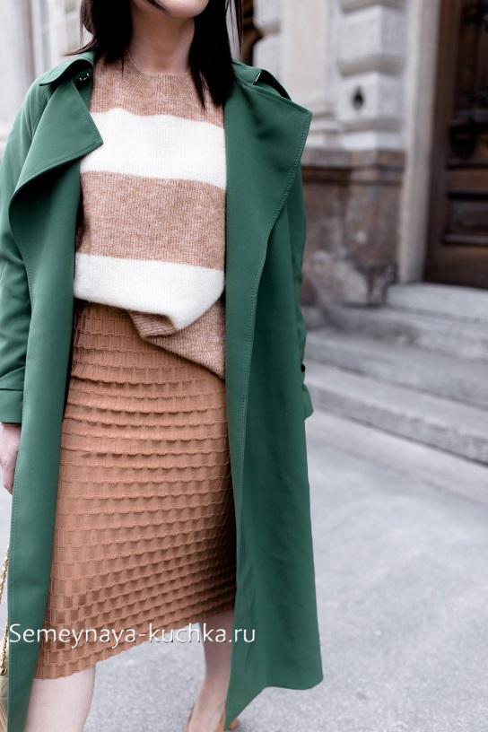 теплая юбка как носить осенью зимой