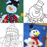 шаблон снеговик для аппликации