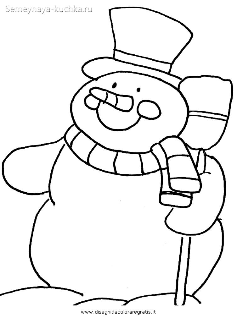 аппликация снеговик шаблон