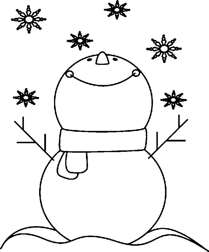 шаблон снеговик из ватных дисков