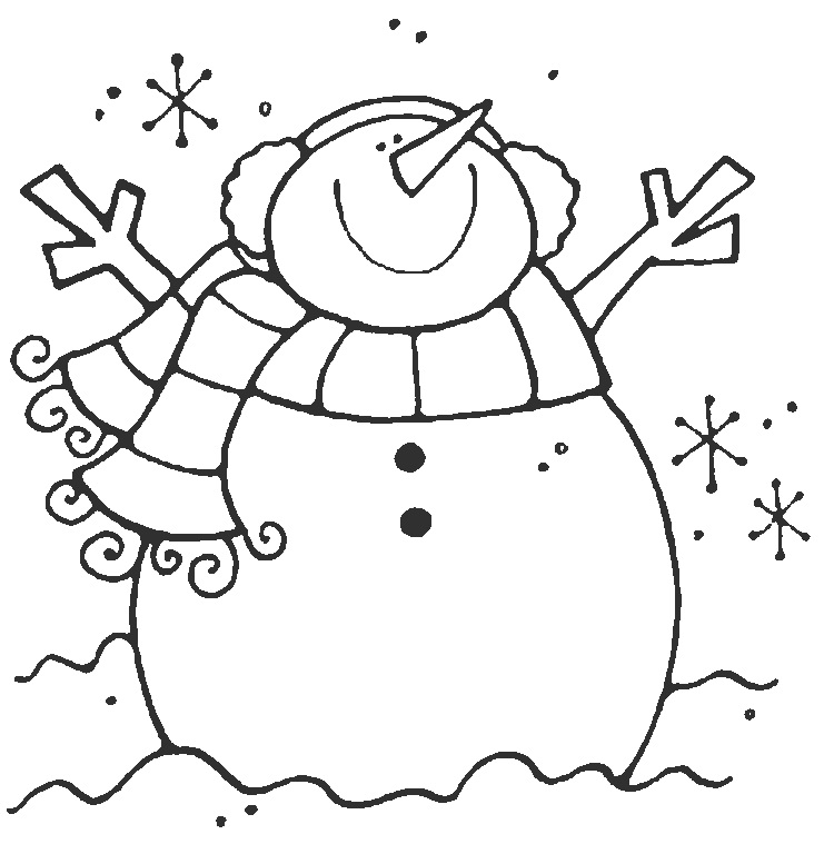 аппликация снеговик из картона