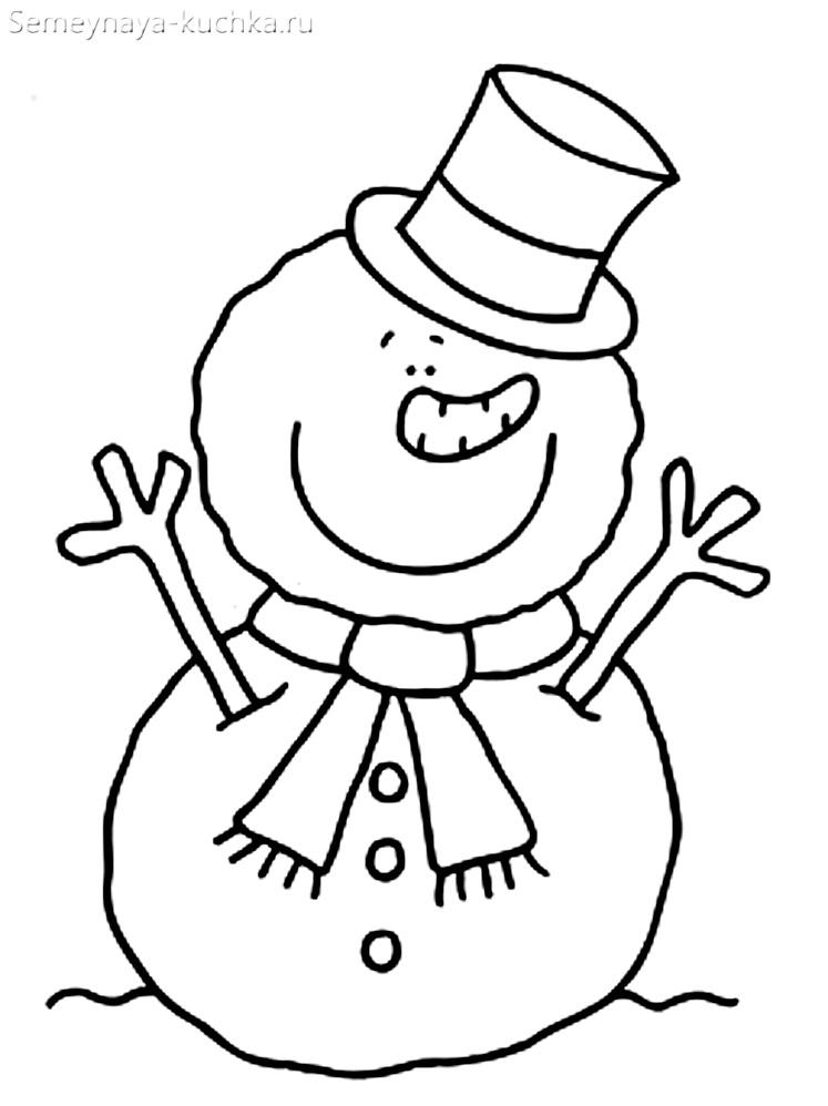 шаблон снеговик из ваты