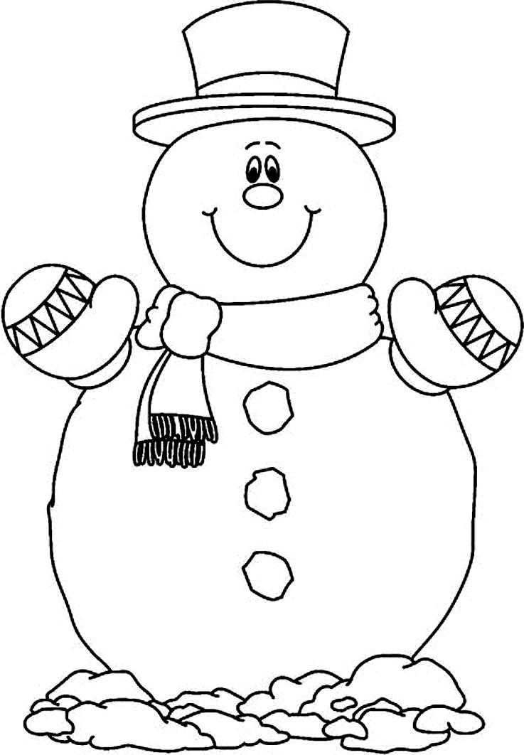 шаблон снеговик из обрывков бумаги
