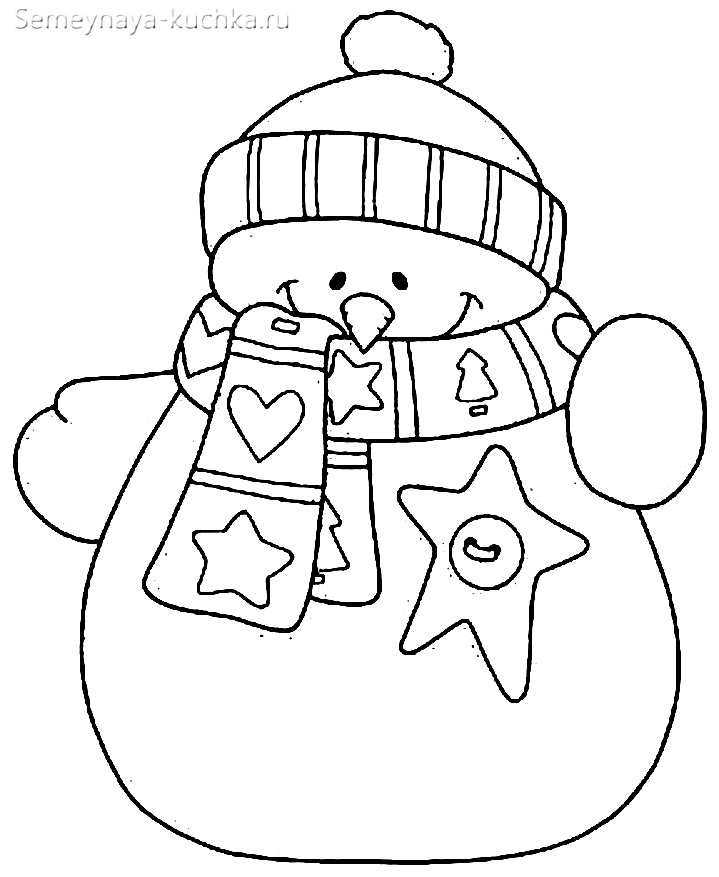 шаблон снеговик из бумаги сделать