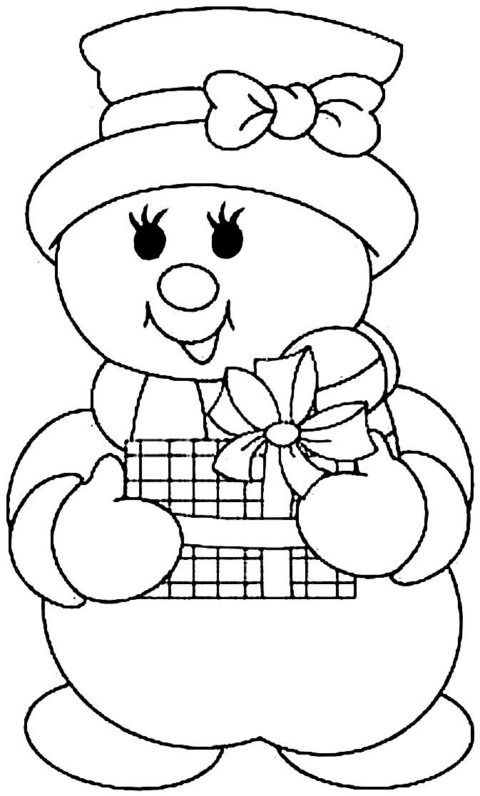 шаблон снеговик из бумаги