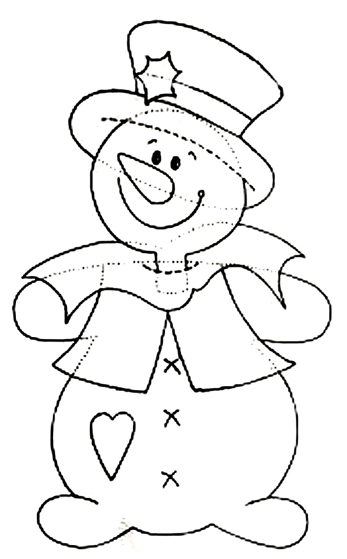поделка снеговик шаблон аппликации