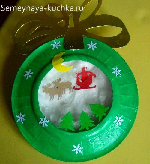 поделка на новый год в детский садик