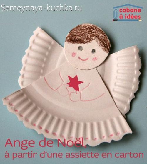 поделка на новый год ангел в детский садик