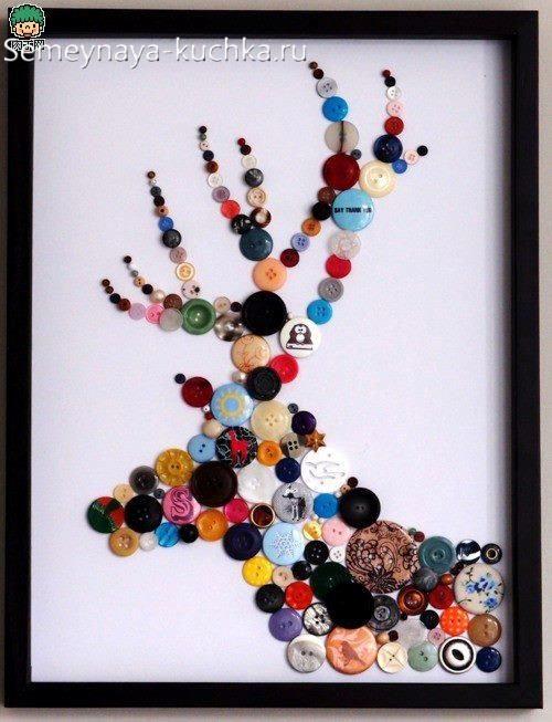 поделка олень на новый год в садик на выставку