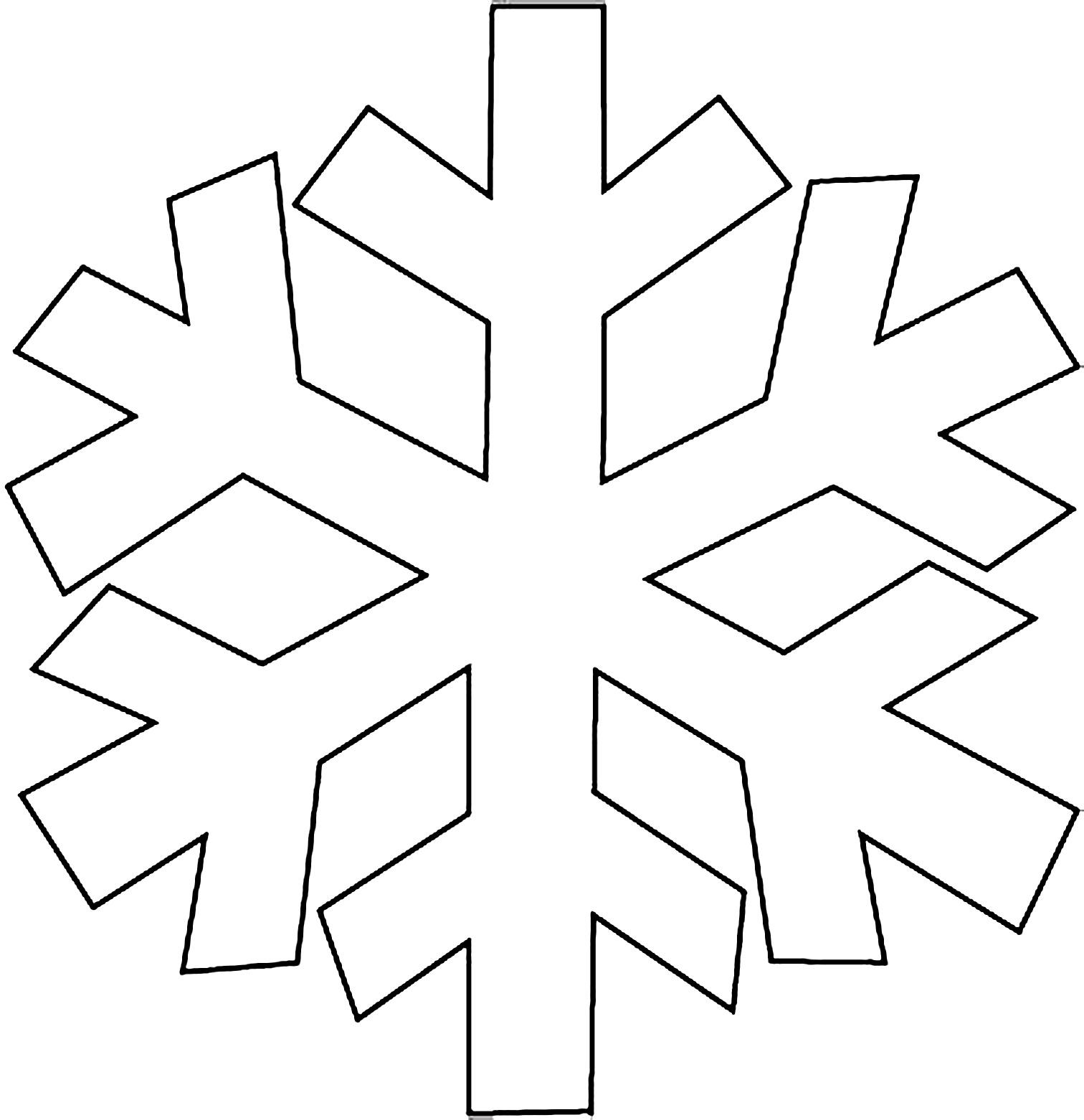 схема большая снежинка из бумаги на выставку в садик