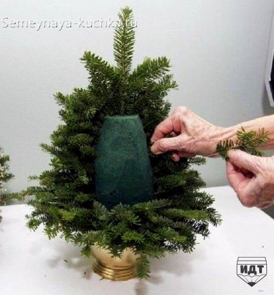 поделка в садик на новогоднюю выставку сделать самим елочка