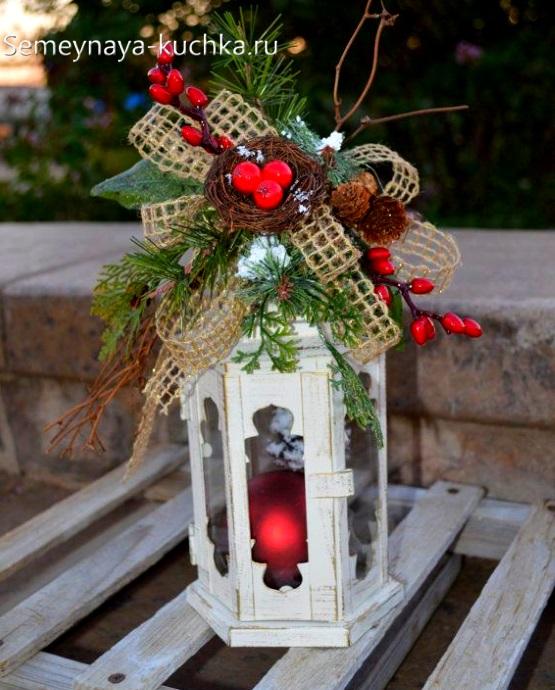 поделка фонарь на новый год на выставку в детский садик