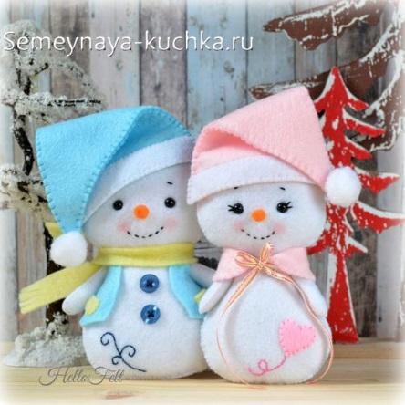 поделка на новый год снеговик в детский садик