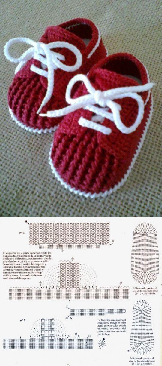 как связать кроссовки пинетки для малыша