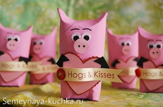 поделка свинья свинка из бумаги