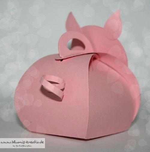 поделка свинка коробочка из бумаги