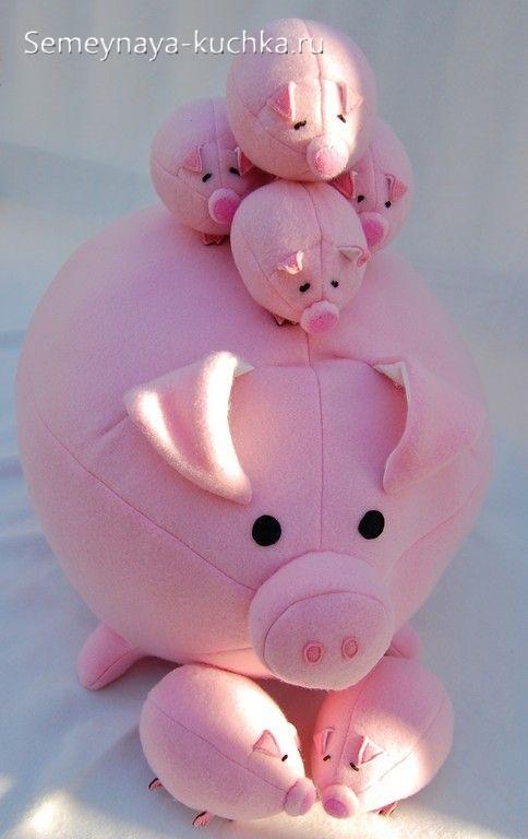 как сшить свинку