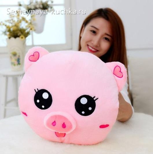 как сшить подушку свинью