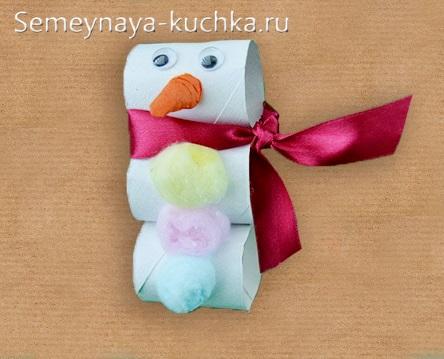 объемный снеговик из бумаги в детском саду