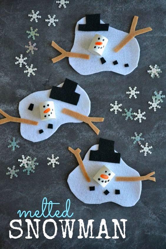 аппликация снеговик объемная для детей