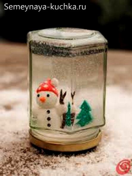 поделка снеговик в соленой воде