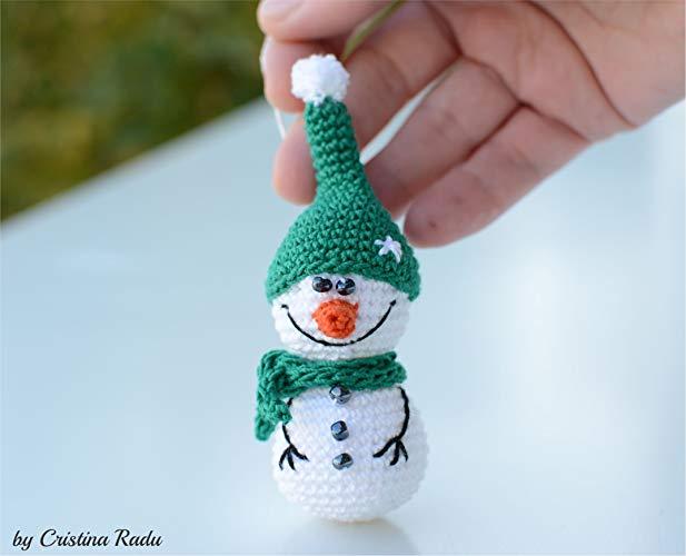 вязаный снеговик простая поделка на кружок вязания