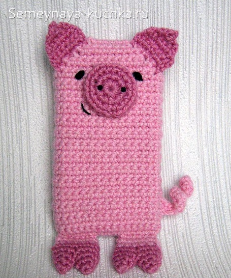 чехол свинья крючком для телефона