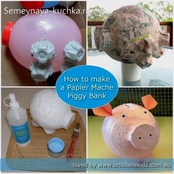 как сделать свинью из газеты и воздушного шара