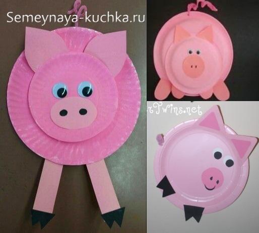 детская поделка свинья поросенок свинка