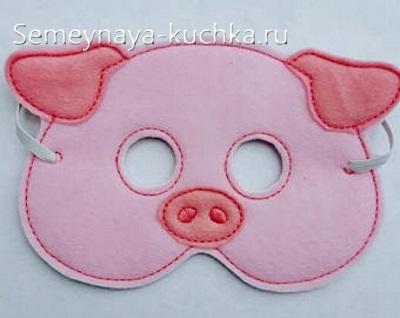 поделка свинка маска