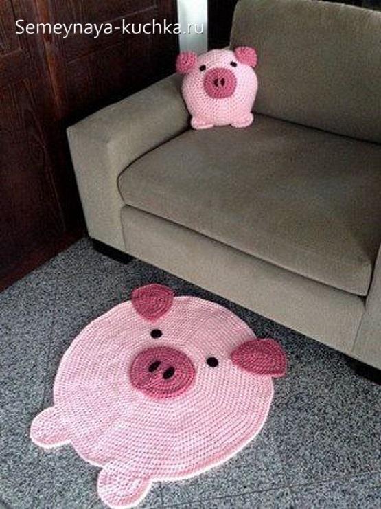 как связать свинку подушку