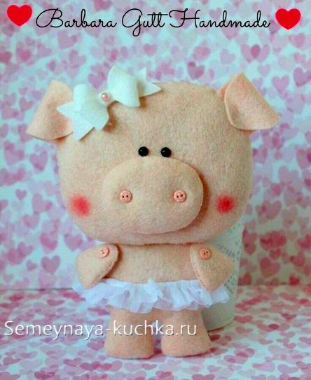 как сделать свинку своими руками из флиса