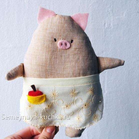 как сделать свинку своими руками из ткани