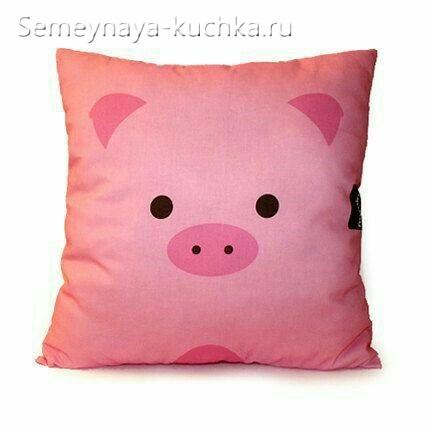 подушка свинка как сшить своими руками