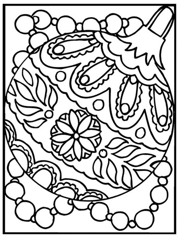 раскраска новогодняя елочный шар