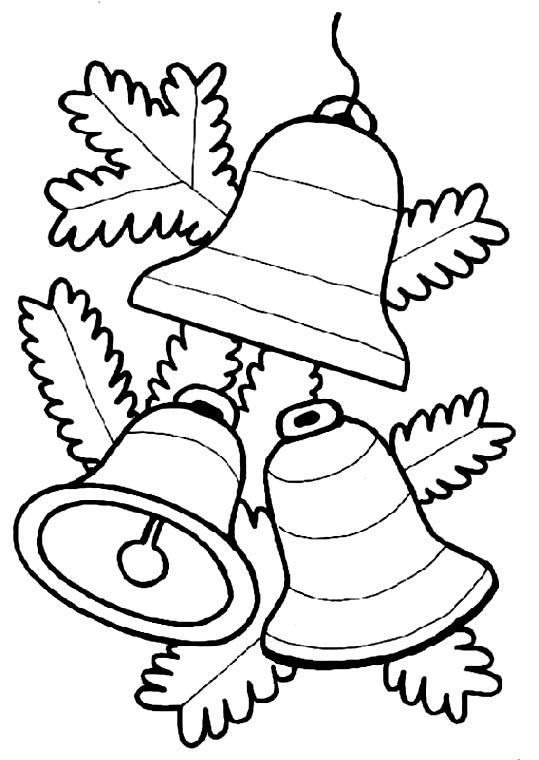раскраска новогодняя колокольчики