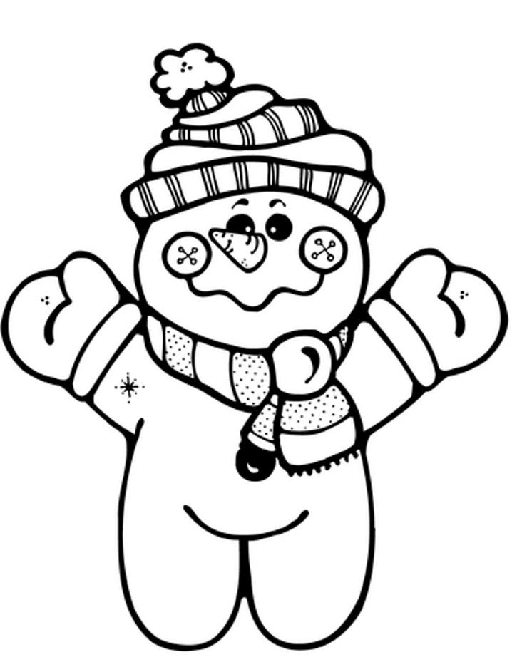 раскраска снеговик игрушка