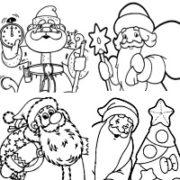 РАСКРАСКИ с русским Дедом Морозом (78 картинок размера А4)