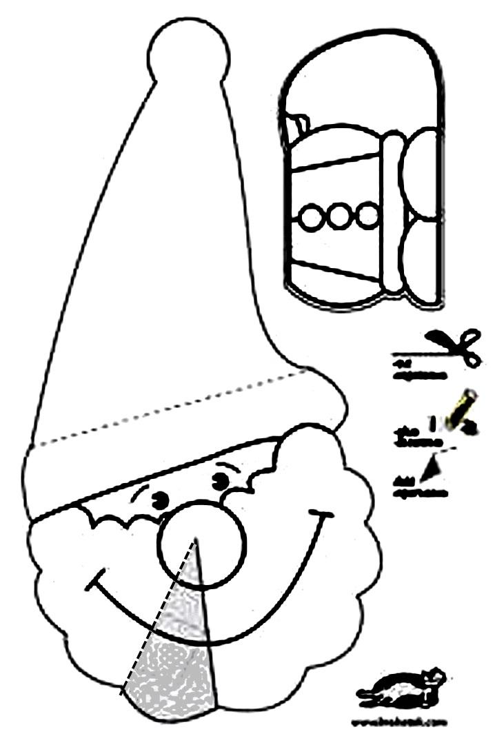 схема шаблон дед мороз