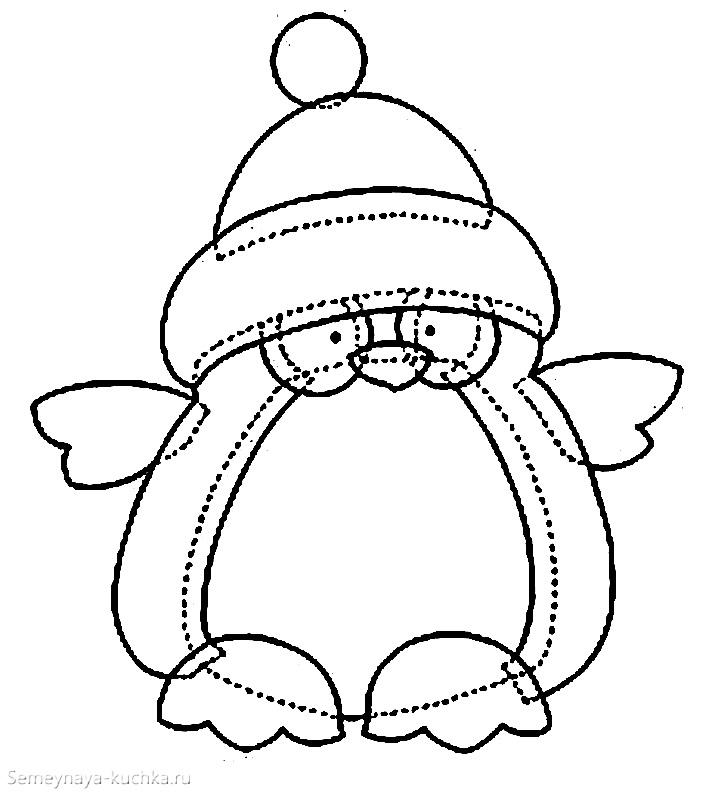 шаблон пингвин из бумаги