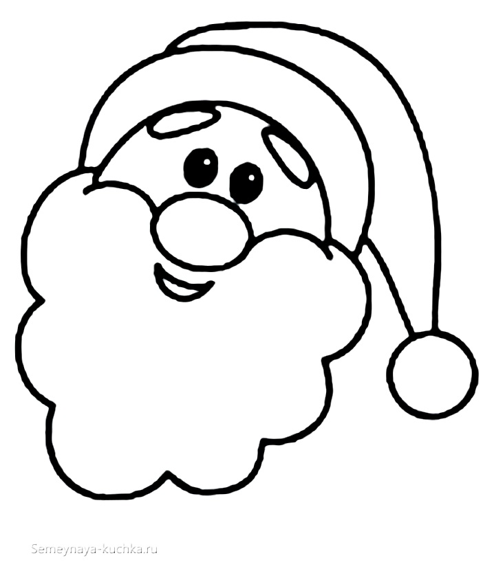 шаблон дед мороз веселый улыбается