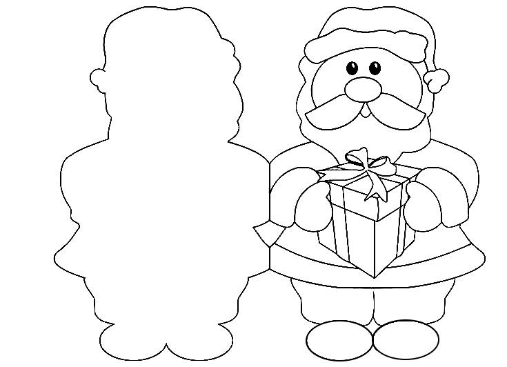 шаблон для новогодней открытки с дедом морозом