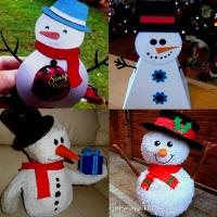 снеговик из бумаги сделать своими руками
