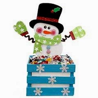 снеговик из плотной бумаги с коробочкой