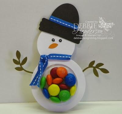 снеговик из картона и бумаги цветной с конфетами