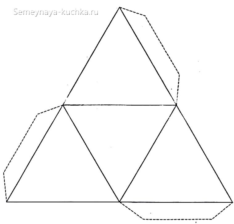 схема сборки коробки снеговика