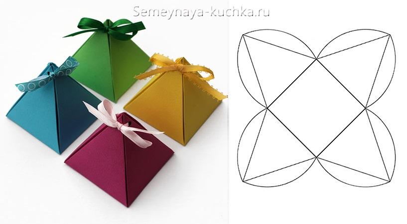 схема сборки коробочек пирамидок