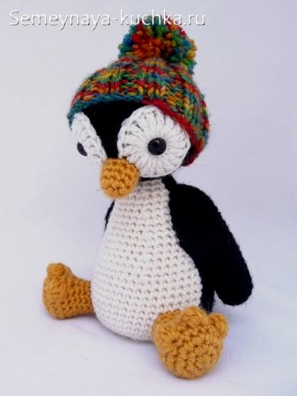как связать пингвина крючком