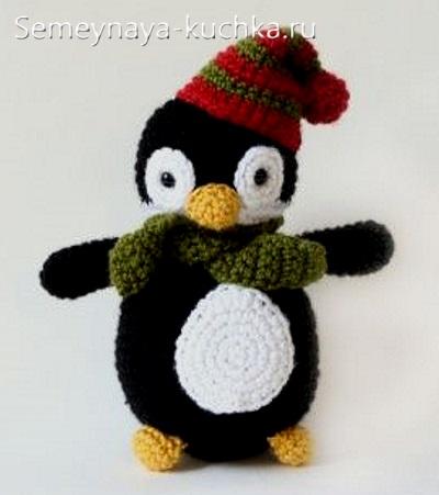 пингвины крючком простой способ связать